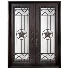 Metal Front Doors For Homes With Glass by Iron Doors Unlimited 46 In X 97 5 In Texas Star Classic Full