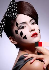 poker face makeup conceptual beauty conceptual make up