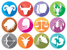 zodiac signs flat buttons zodiac sign silhouettes stylized icons