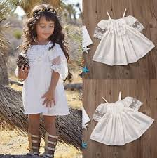 cute kids baby girls off shoulder princess party lace dress