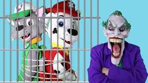 rocky u0026 marshall jail princess rapunzel joker paw patrol
