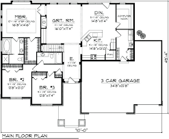 ranch home floor plans with basement awesome one level house plans with no basement best ranch