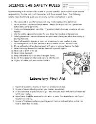bunch ideas of lab safety worksheets in template sample