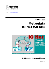 metrohm ic net 2 3 user manual 389 pages
