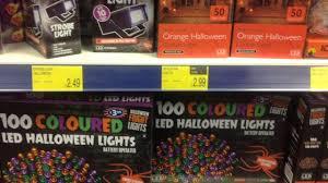 Orange Led Halloween Lights by B U0026m Bargains Halloween 2015 Store Walk Through Part 1 Youtube