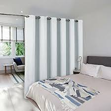 amazon com roomdividersnow muslin room divider curtain 8ft tall