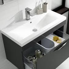 Free Standing Vanity Units Bathroom Hudson Reed Memoir Designer 800mm Freestanding Vanity Unit Grey