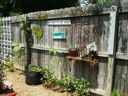 garden fence decor home design and decorating