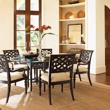 Tommy Bahama Dining Room Furniture A R T Furniture Intrigue 5 Piece Glass Top Round Dining Set With