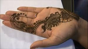 how to make henna mehendi design easy design for palm youtube