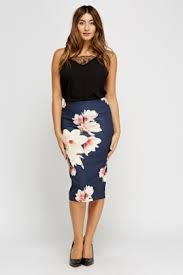 pencil skirts floral navy pencil skirt just 5