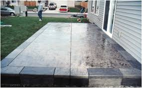 Stamped Concrete Patio Prices by Backyards Wonderful Price For Stamped Concrete Patio Marvelous