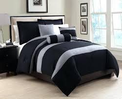 Navy Stripe Comforter Set Bedroom Gray Cotton With Dark Blue Pattern Comforter Set Double