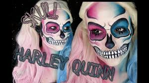 Halloween Skull Makeup Tutorial Harley Quinn Skull Makeup Tutorial Halloween Tutorial 2016 Youtube