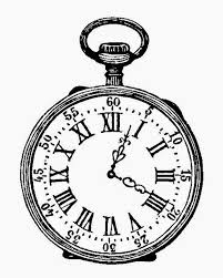 pocket watch clipart simple pencil and in color pocket watch