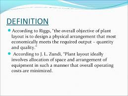 layout techniques definition plant layout ppt by me