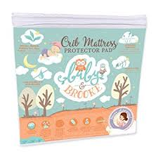 Bamboo Crib Mattress Organic Crib Mattress Cover Pad Waterproof And