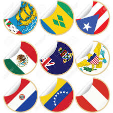 Us Virgin Island Flag Collection Of Stickers Labels With Country Flags From North
