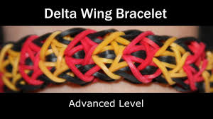 rainbow loom delta wing bracelet youtube