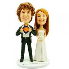 superman wedding cake topper wedding cake topper bobblehead