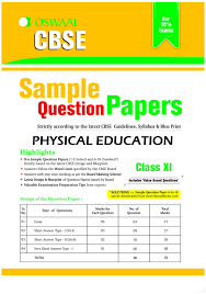 cbse sample question papers physical education class 11 1st