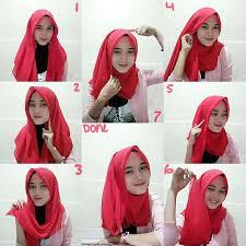 tutorial hijab segi empat paris simple cara memakai jilbab paris segi empat cantik simple fashion muslim