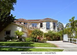custom made homes modern custom made houses mansions nicely stock photo 441487825