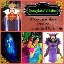 disney villains a disneyland scavenger hunt