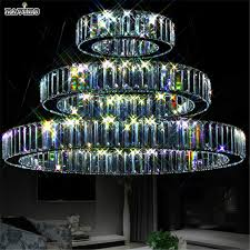 Led Dining Room Lights by Led K9 Luxury Crystal Ring Pendant Light For Dining Room Lamp