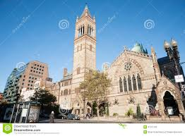 Map Copley Square Boston by Old South Church Copley Square Boston Editorial Photography