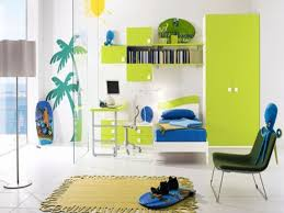 kids room stunning bed in green finished door cabinet and