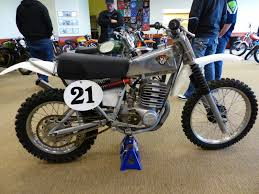 vintage siege oldmotodude maico with triangulated swingarm and lay shocks on