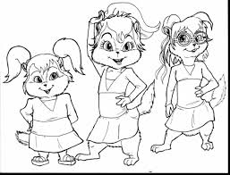 Halloween Coloring Pages For Girls by Remarkable Alvin And Chipmunks Coloring Pages With Alvin And The