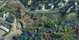 Eden Utah Map by Blind Gully Disc Golf At Von Baer Park Professional Disc Golf