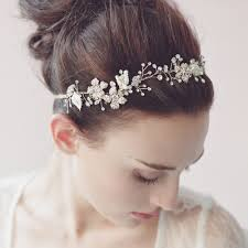 wedding hair bands beautiful handmade bridal hair band pearls rhinestones headband