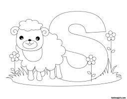 printable animal alphabet worksheets letter for sheep 564306