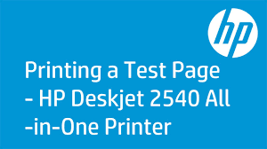 printing a test page hp deskjet 2540 all in one printer all