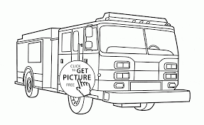 rescue fire engine coloring page for kids transportation coloring