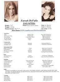 us resume format professional actor headshots gallery of resumes modeling resume template baby modeling
