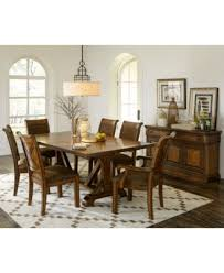 Dining Room Table 6 Chairs Mandara 9 Pc Dining Room Set Dining Trestle Table 6 Side Chairs