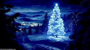 snowy christmas pictures glossy and snowy christmas tree wallpaper