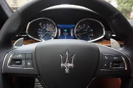 maserati steering wheel driving 2017 maserati quattroporte review autoweb