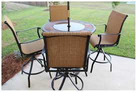 Patio Furniture Feet Replacement Brilliant Outdoor High Top Table Furniture Round Brown Metal Patio