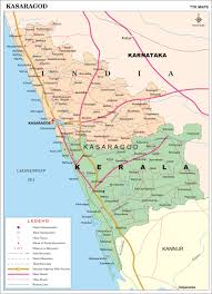 Map Of Punjab India by Kasaragod District Map Kerala District Map With Important Places