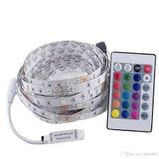 Led Light Strip Controllers by 5m 5050 Rgb Led Light Strip 150 Led Tape 24 Key Remote Controller