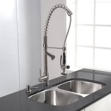 Commercial Style Kitchen Faucets Kitchen Design 3 Holes Kitchen Faucets With Soap Dispenser And