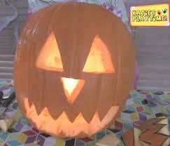 pumpkin mask for halloween how to make a jack o lantern pumpkin head for halloween youtube