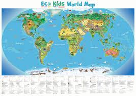 Children S Map Of The World by Eco Kids Planet U2013 Mini Gift Subscription Plus Children U0027s World Map