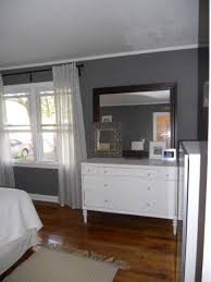 gray wall bedroom paint color decoration ideas with wooden