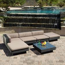 Patio Sectional Outdoor Furniture 25 Awesome Modern Brown All Weather Outdoor Patio Sectionals